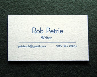 Letterpress business cards etsy 50 letterpress business cards minimalist design why pay more colourmoves