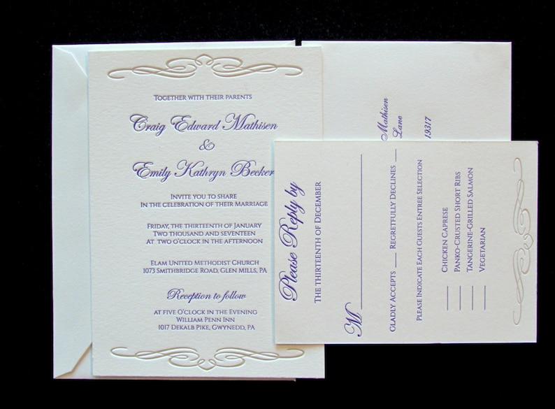 Letterpress Wedding Invitations.Affordable Letterpress Wedding Invitations Samples