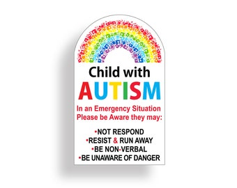 Autism awareness quote kids Living Room Dining Wall Art Vinyl Decal Sticker V230