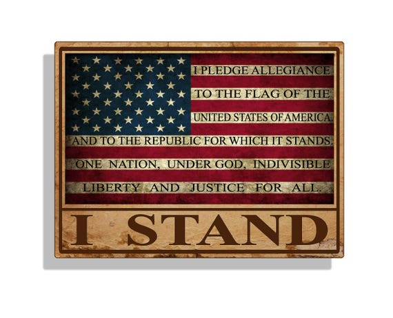 I Stand USA Flag Sticker Vinyl Decal US Proud America Car Truck Laptop Graphic