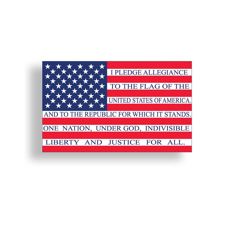 0a6cc3aac4 Pledge of Allegiance to the Flag USA Stickers American Vinyl