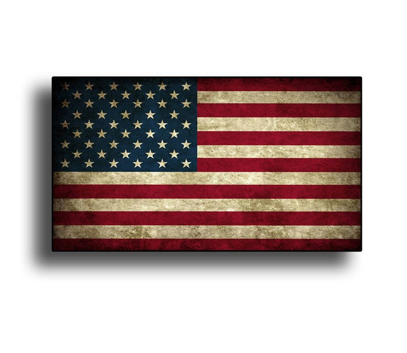 069fa6b5cc Rustic USA American Flag Sticker Die Cut Printed Vinyl Decal