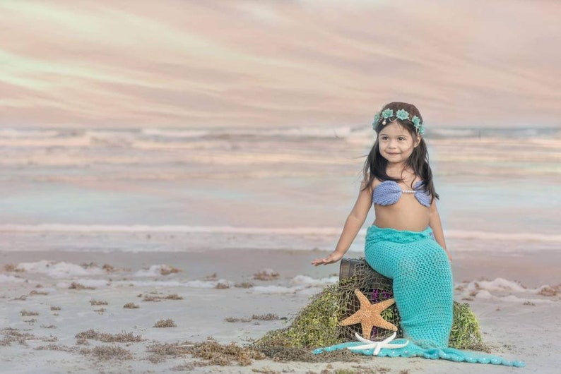 Crochet Mermaid Tail And Shell Top For Baby And Toddler Etsy