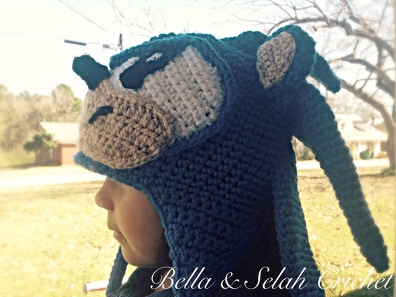 Sonic The Hedgehog Crochet Beanie Sonic Hat Baby Photo Prop Etsy