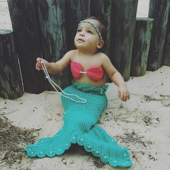 Crochet Mermaid Tail For Babies Crochet Mermaid Tail For Etsy