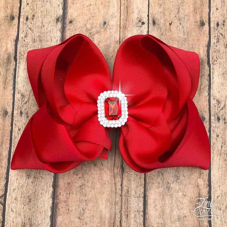 Red Hair Bow for Girls
