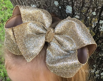 """Glitter Boutique Bows Hair Bows For Girls, 7"""" Glitter Bows, Halloween Bows, Christmas Bows"""