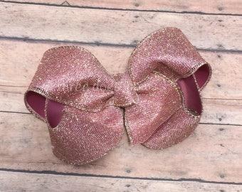 Rose Gold Bow - Glitter Rose Gold Bows - Rose Gold Hair Bow - Rose Gold Hairbow - Rose Gold Hair Bow - Rose Gold Accessories