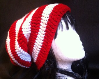 Candy Cane Christmas Beanie Where s Waldo Hat Red   White Striped Beanie  Hipster Christmas Cat In The Hat Winter Slouchy Beanie Warm Hat 2a649241e55f