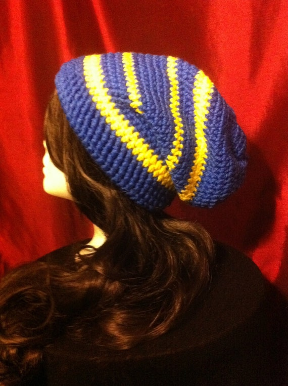 85530890828 Mariners Throwback Blue   Yellow Slouchy Beanie Hipster  Adult