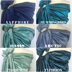 BLUES (scroll for more colors) - Ring Sling - Baby Carrier - Baby sling - Dupioni silk - Baby