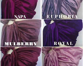 PURPLES (scroll for more colors) - Ring Sling - Baby Carrier - Baby Sling - Baby - Dupioni silk