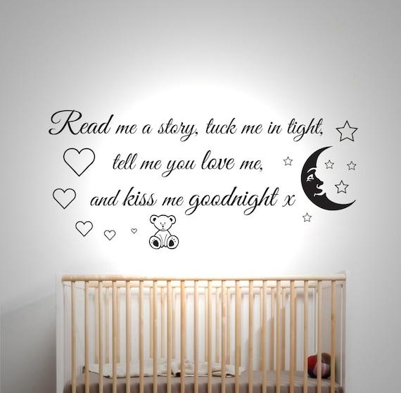 Read me a story - Wall sticker - Childrens bedroom - Nursery - Vinyl Decal