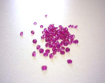 30 Red, Round, 2mm Lab Created Ruby/Corundum Loose Stones