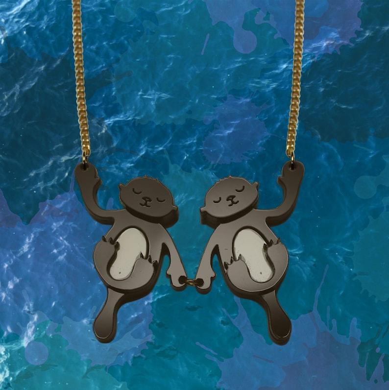 Sleeping Otter Necklace image 0