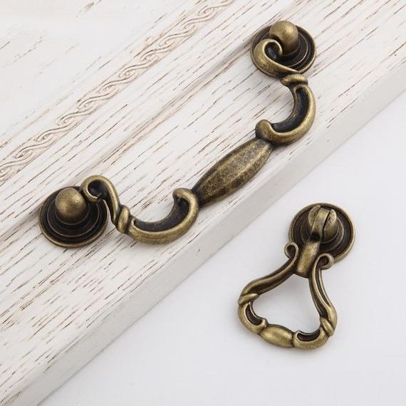 Dresser Knobs Pulls Bail Drop Pulls Drawer Knobs Pull Handles Antique Black Kitchen Cabinet Pulls Handles Knobs Rustic Vintage Knobs92 140mm