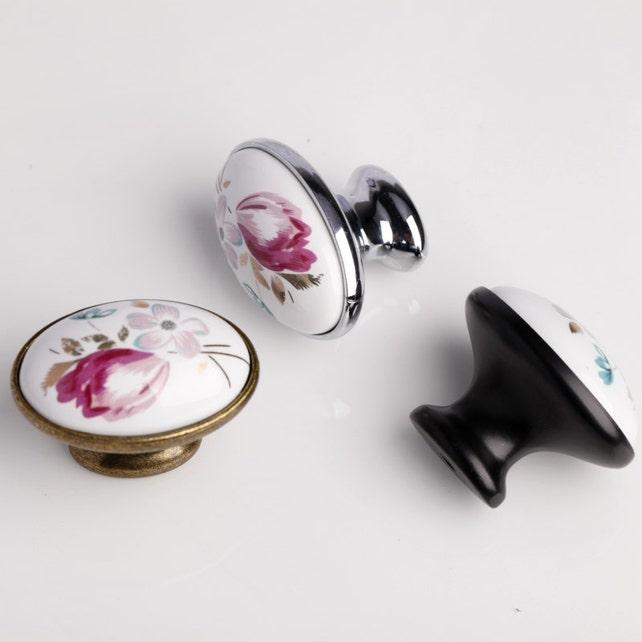 Keramische Schublade Knöpfe zieht Griffe Kommode Knöpfe Griffe | Etsy