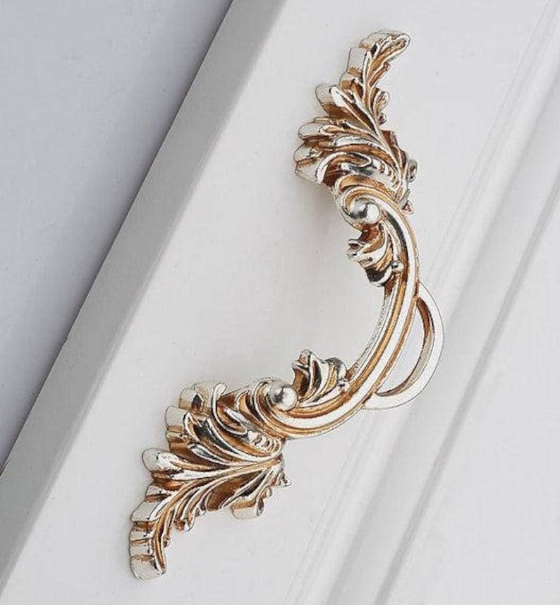 2.5 Shabby Chic Dresser Knobs Pulls Drawer Pulls Handles Knobs Antique Silver Kitchen Cabinet Handles Pulls Knob Decoration French Pulls