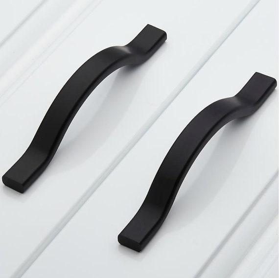 2.5 3.78 Black Cabinet Door Pulls Handles Dresser | Etsy