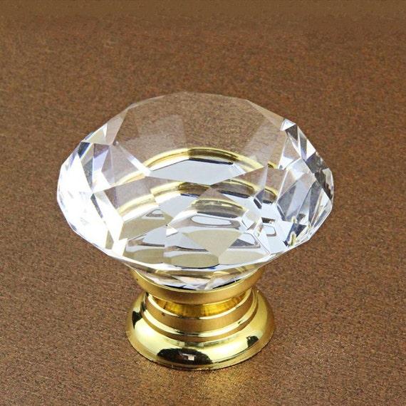 Gold Silber Glas Knöpfe Kommode Knöpfe zieht Knöpfe zieht | Etsy