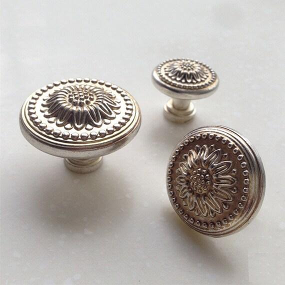Kommode Knöpfe Antik Silber Gold Schublade zieht Knöpfe Griffe | Etsy