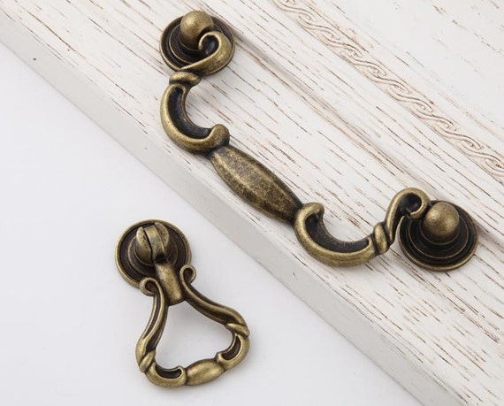 3.78 Bail Drop Pulls Dresser Knobs Pulls Drawer Knobs Pulls Handles Antique Bronze Kitchen Cabinet Knobs Handle Pulls Furniture Hardware