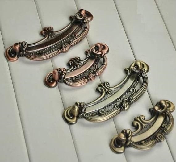 image 0 - Vintage Style Dresser Pulls Handles Knobs Drop Ring Pulls Etsy