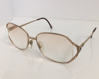 909e4881678c Vintage Christian Dior Gold Frame Diamante Glasses