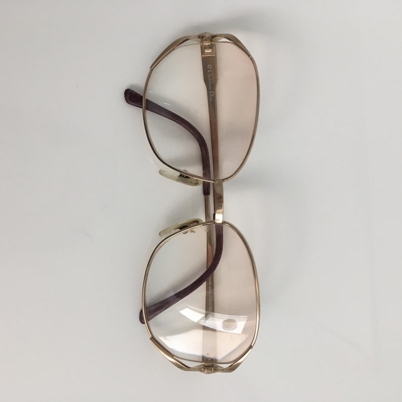 ebb6443c507 Vintage Christian Dior Gold Frame Diamante Glasses