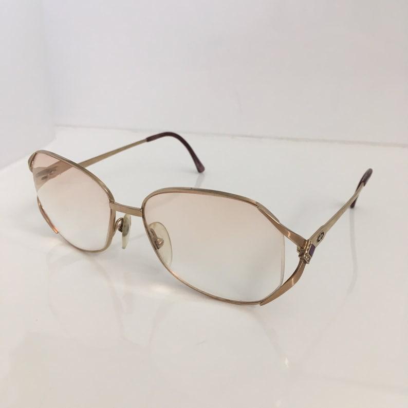 88abbc1b14d Vintage Christian Dior Gold Frame Diamante Glasses