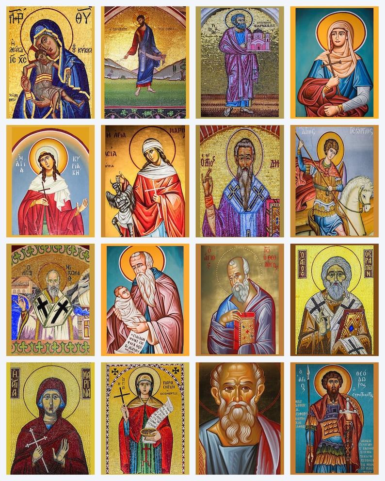 c30d1d10 Catholic Icons of Jesus Virgin Mary & Saints Digital 16 image | Etsy