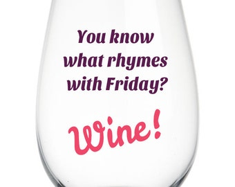 Rhymes With Wine Etsy