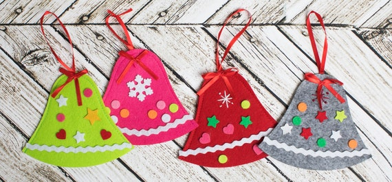"or green new /""Joyful Bells/"" kit makes 3 Christmas Ornaments choose red"