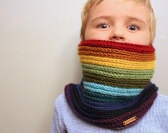 Rainbow Cowl Neckwarmer / ANY COLOUR /