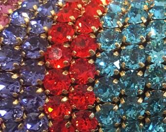 Hand made Swaroski bracelets