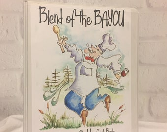 Blend of the Bayou Men Who Cook Book 1997 Louisiana Cajun Recipe Binder Cooking Fathers Day Gift