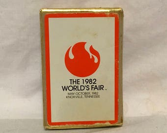 1982 World's Fair Playing Cards Knoxville Tennessee One Deck Congress