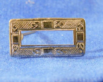 Small ANTIQUE 1800s Sterling Silver Sash Pin