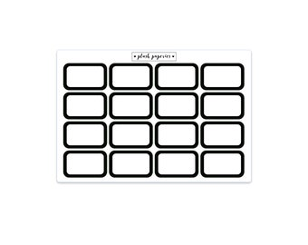 HALF BOXES | Rounded Corners | Planner stickers | Functional Stickers | NEUTRAL
