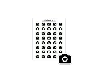 CAMERA | Planner stickers | Functional Stickers | NEUTRAL