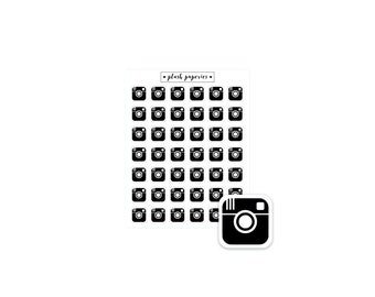 INSTAGRAM | Planner stickers | Functional Stickers  | NEUTRAL | Camera