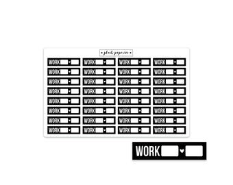 WORK | From / To | Planner stickers | Functional Stickers | NEUTRAL