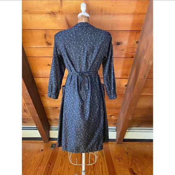 Vintage 1940s Dress / 40s French Workwear Chore W… - image 5