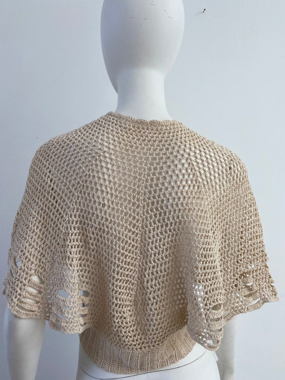 Vintage 1930s Sweater / 30s Crochet Cardigan / Me… - image 3