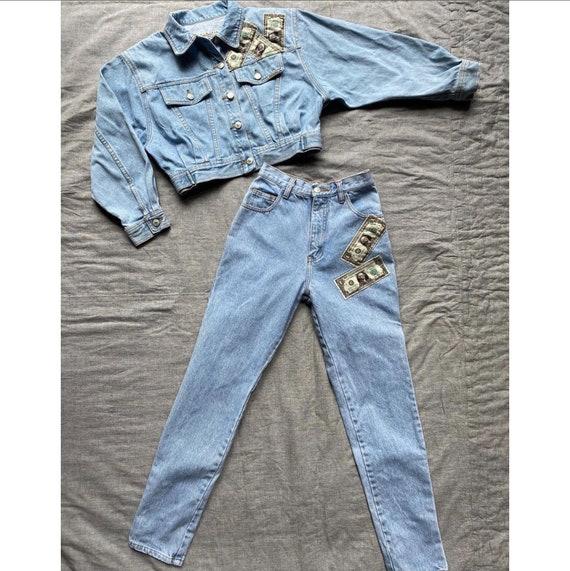Vintage 1980s Denim Set /80s Jean Jacket and Pant