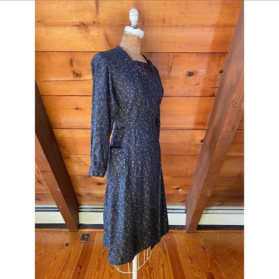 Vintage 1940s Dress / 40s French Workwear Chore W… - image 4