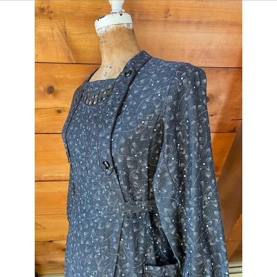 Vintage 1940s Dress / 40s French Workwear Chore W… - image 6