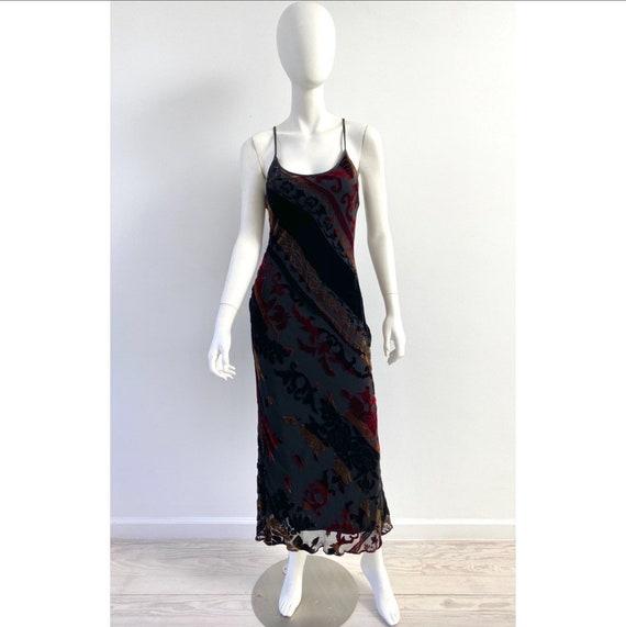 Vintage 1990s Dress / 90s Betsey Johnson Velvet Bu