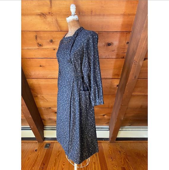 Vintage 1940s Dress / 40s French Workwear Chore W… - image 7