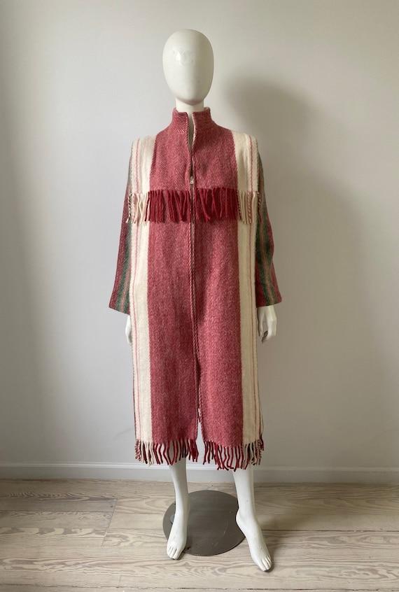 Vintage 1980s Coat / 80s Deadstock Norwegian Strip